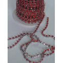 Chaine de strass rouge