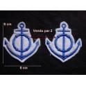 Paire de motifs broderie marin