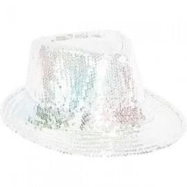 Chapeaux paillette argent