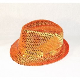 Chapeaux paillette orange