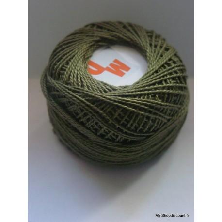 Coton perlé 8 vert kaki