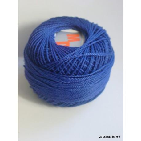 Coton perlé 8 bleu roy