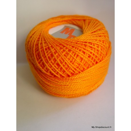 Coton perlé 8 orange