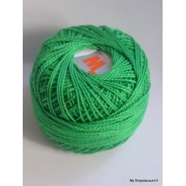 Coton perlé 8 vert mousse