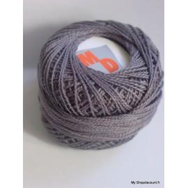 Coton perlé 8 gris foncé