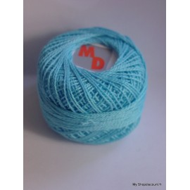 Coton perlé 8 bleu ciel