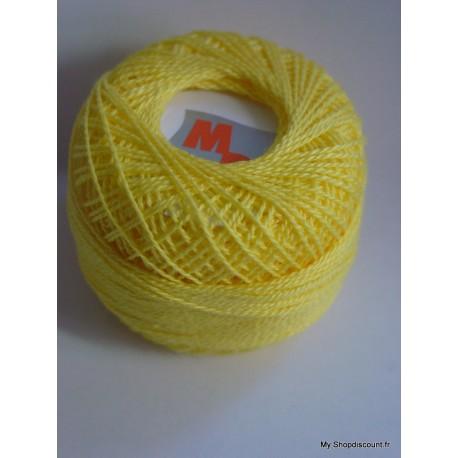 Coton perlé 8 jaune foncé