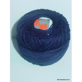 Coton perlé 8 bleu marine