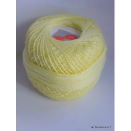 Coton perlé 8 jaune clair
