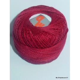 Coton perlé 8 rouge bordeaux