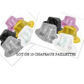 Lot 10 Chapeaux paillette