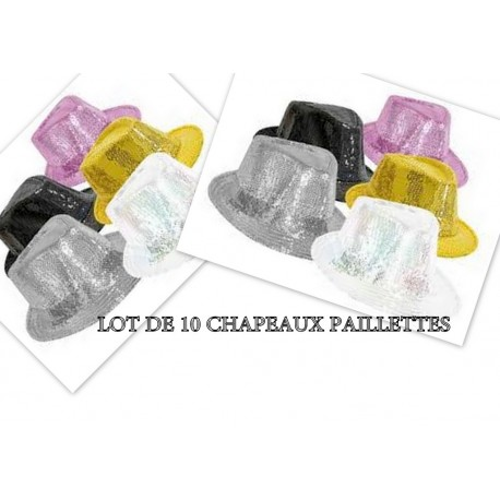 Lot 10 Chapeaux paillette