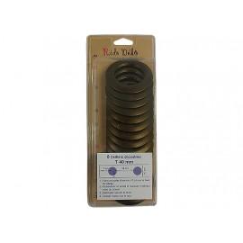 Lot 8 oeillets clipsables rideaux - Bronze