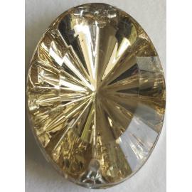 Strass pierre ovale doré