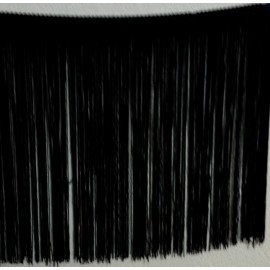 Frange noire 30 cm