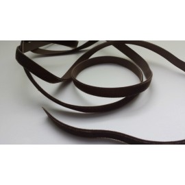 Ruban velours 9 mm marron chocolat