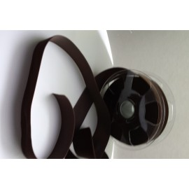 Ruban velours 36 mm marron chocolat