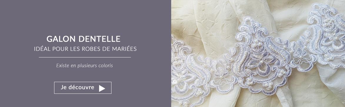 galon dentelle robe de mariée